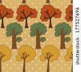 cute cartoon tree seamless... | Shutterstock .eps vector #177527696