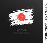 Flag Of Japan In Grunge Brush...