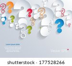 random colorful 3d question... | Shutterstock .eps vector #177528266