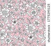 vintage floral background.... | Shutterstock .eps vector #1775295125