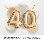 happy 40th birthday gold foil... | Shutterstock . vector #1775300522