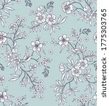 vintage floral background.... | Shutterstock .eps vector #1775303765