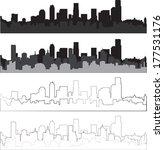 city silhouette | Shutterstock .eps vector #177531176
