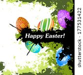 grungy easter background with... | Shutterstock . vector #177531422