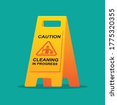 cleaning progress caution sign... | Shutterstock .eps vector #1775320355