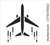 airplane black glyph icon....