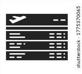 departures board black glyph...