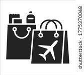 duty free shopping black glyph...