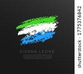 Flag Of Sierra Leone In Brush...