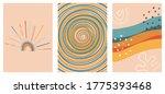 set of three abstract pop art... | Shutterstock .eps vector #1775393468