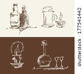 drink medley sketches  vector...   Shutterstock .eps vector #177541442