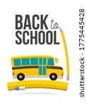 cute cartoon school bus with... | Shutterstock .eps vector #1775445428