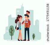 happy young parents concept...   Shutterstock .eps vector #1775451158