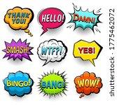 comic speech bubbles set....   Shutterstock .eps vector #1775462072