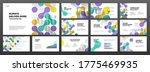 modern powerpoint presentation... | Shutterstock .eps vector #1775469935
