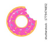 Pink Donuts Vector Isolated On...