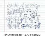 children's drawings idea design | Shutterstock .eps vector #177548522