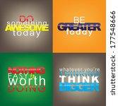 set of typographic backgrounds. ... | Shutterstock .eps vector #177548666
