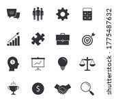 business icon set  vector flat... | Shutterstock .eps vector #1775487632