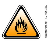 triangle fire warning sign  ... | Shutterstock . vector #17755036