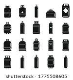 Gas Cylinders Bottle Icons Set. ...