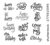 lettering. happy birthday hand... | Shutterstock .eps vector #1775515595