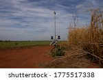 Weather Station In Agricultural ...