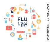 cold flu treatments concept.... | Shutterstock .eps vector #1775526905