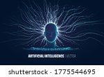 abstract vector artificial... | Shutterstock .eps vector #1775544695