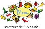mexican food menu sign