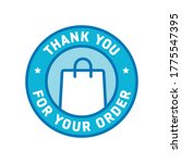 thank you for your order ...   Shutterstock .eps vector #1775547395