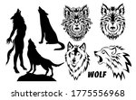set of silhouettes of drawings... | Shutterstock .eps vector #1775556968