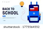 back to school landing page... | Shutterstock .eps vector #1775564552