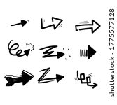 hand drawn arrows vector with... | Shutterstock .eps vector #1775577128