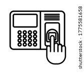 attendance machine icon.... | Shutterstock .eps vector #1775581658