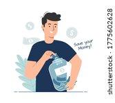 money saving concept. man...   Shutterstock .eps vector #1775602628