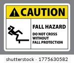 caution warning fall hazard do...   Shutterstock .eps vector #1775630582