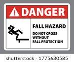 danger fall hazard do not cross ... | Shutterstock .eps vector #1775630585