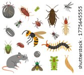 set of pests and pests... | Shutterstock .eps vector #1775645555