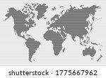 black horizintal stripes line... | Shutterstock .eps vector #1775667962