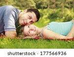 a young beautiful couple in... | Shutterstock . vector #177566936