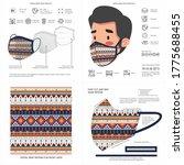 abstract  aztec ethnic print... | Shutterstock .eps vector #1775688455