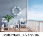 House Terrace By The Sea 3d...
