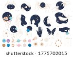 collection of mystical and... | Shutterstock .eps vector #1775702015