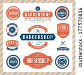 barber shop vintage retro... | Shutterstock .eps vector #177570836