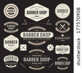 barber shop vintage retro... | Shutterstock .eps vector #177570908