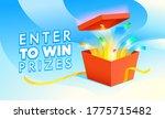 enter to win prizes banner.... | Shutterstock .eps vector #1775715482