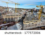 large construction site | Shutterstock . vector #177572006