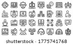 online meeting icons set.... | Shutterstock .eps vector #1775741768