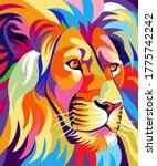 Colorful Lion Illustration ...
